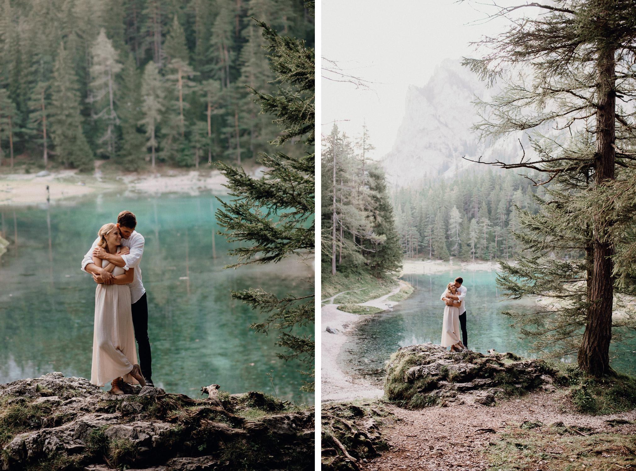 grüner see fotograf österreich verlobungsshooting
