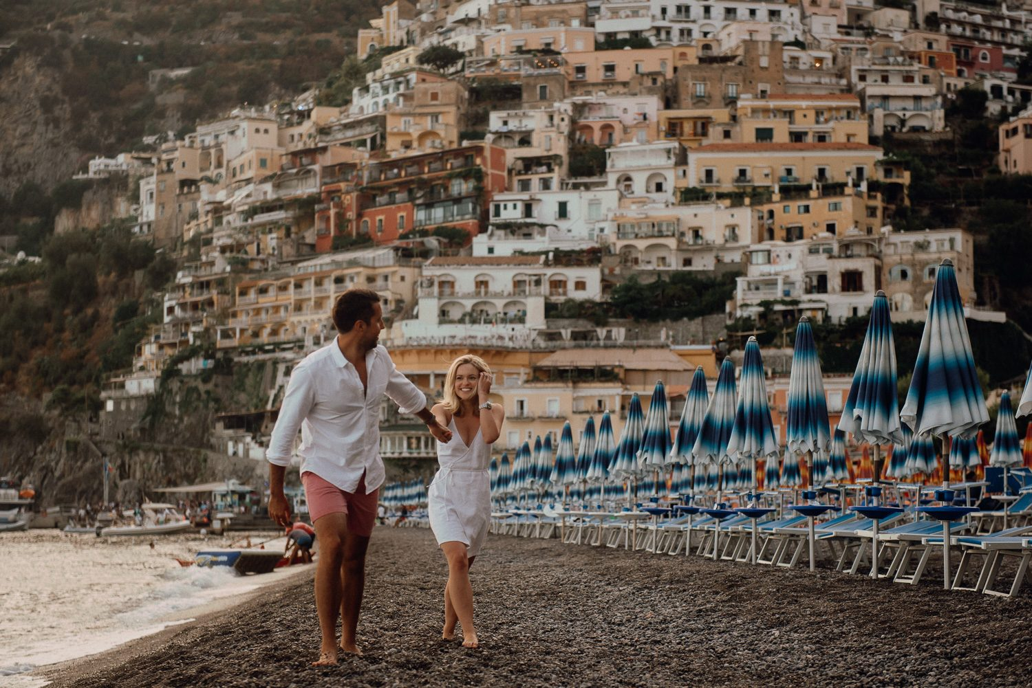 destination photographer positano engagement shooting