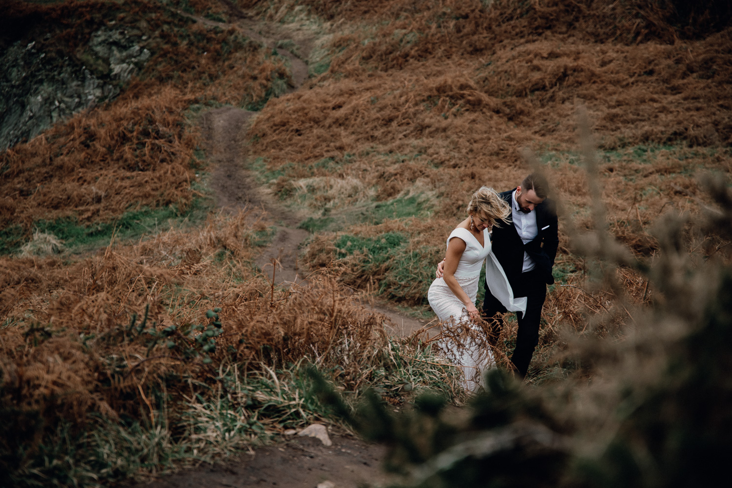 wedding photographer ireland after wedding shoot coast