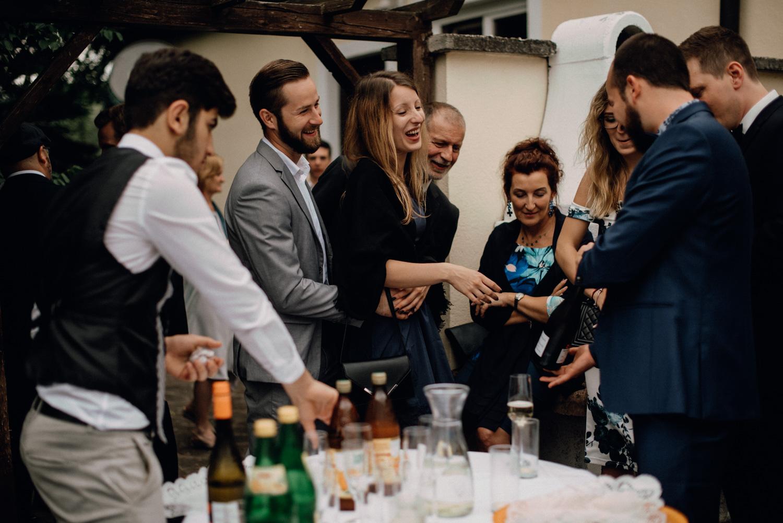 Gratulationen bei der Hochzeit