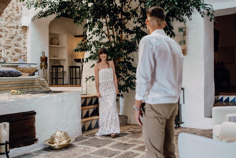 first look Hochzeit mallorca